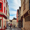 Editorial: 8th March 2018: Auxerre, France. Street view, sunny day