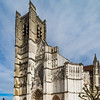 Cathedral Saint-Etienne springday view, Auxerre, France