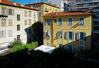 Typical Nice old city view, summer day