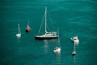 Mediterranean sea summer day view. Cote d'Azur, France.