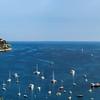 Wide panoramic view of Cap-Ferrat, France
