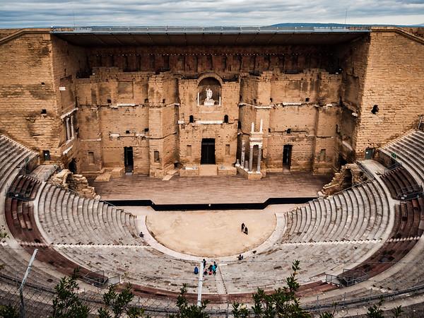 Ancient Roman amphitheater in the city of Orange