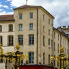 Old buildings on the street of Nancy, France