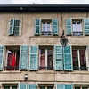 Windows of old centrel in Nancy, France