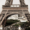 Editorial,13th May 2016:  Paris, France. Eiffel tower sunset view