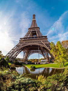 Eiffel Tower in Paris, sunny day, panorama. Landmark