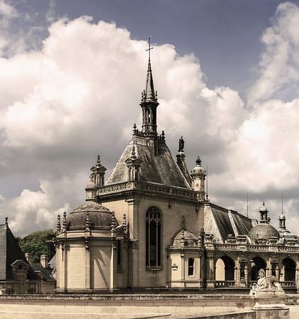 Chantilly castle view, Il-de-France, Paris region