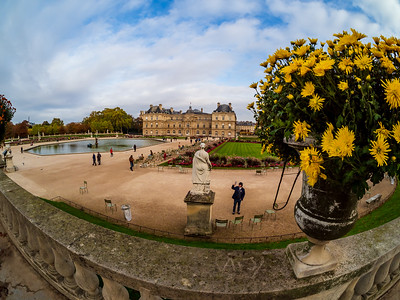 Editorial: 25th October 2019: Paris, France. Luxembourg garden in autumn