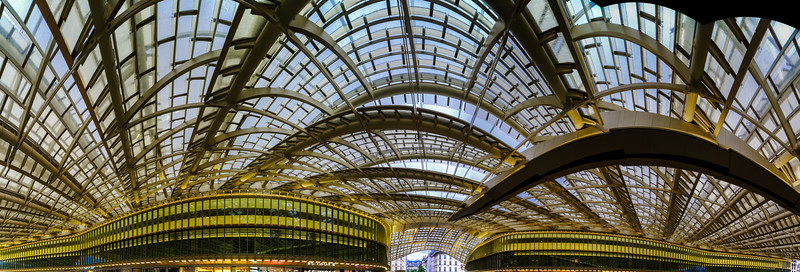 Les Halles metro station and shopping mall cupola