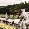 Soft and calmness view of Luxembourg garden, Paris