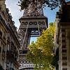 Eiffel Tower in Paris, sunny day, panorama. Landmark