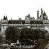 Classic french castle in Paris region, touristic landmark
