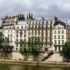 Seine river in Paris, panoramic view