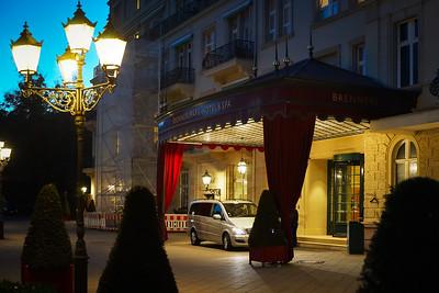 Editorial: 16th February 2019: Baden-Baden, Germany. Luxury hotel entrance