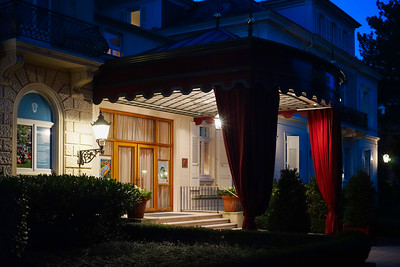 Editorial: 16th February 2019: Baden-Baden, Germany. Luxury hotel entrance