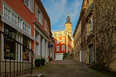Editorial: 16th February 2019: Baden-Baden, Germany. Sunny day street view