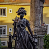 Russian empress Elizaveta Alekseevna sculpture near the Bismarck statue in Baden-Baden