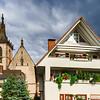 Beautiful gothic medieval church in little german village