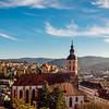 Collegiate church of Baden-Baden. Majestic exterior panoramic  overview