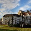 High resolution wide panoramic cityscape of Baden-Baden, Germany