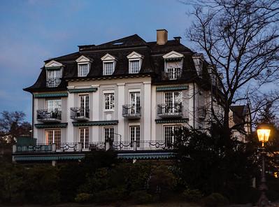 Majestic historical building at night, Baden-Baden