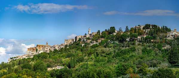Montepulciano panoramic view, Tuscany landscape, Italy