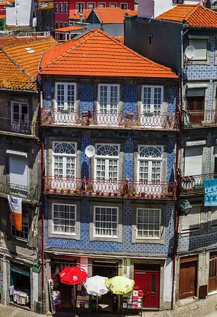 Editorial: 6th June 2017: Porto, Portugal. Aerial panoramic view