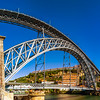 Editorial: 6th June 2017: Porto, Portugal. Beautiful steel bridge of St. Luis panoramic view