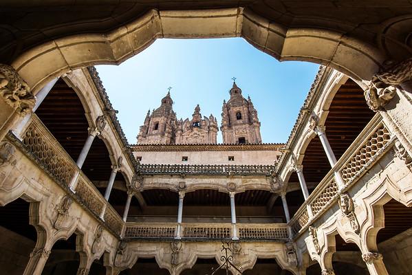 Salamanca cathedral view, Spain, summer