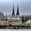Editorial: 18th February 2017: Luzern, Switzerland. Cityscape.