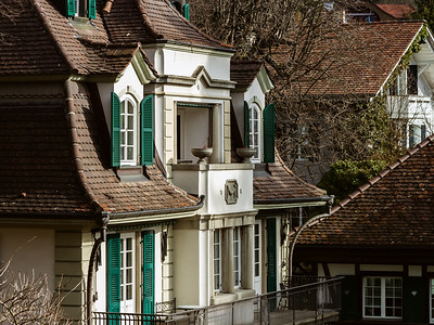 Classic city architecture of Switzerland street view