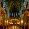 Majestic medieval church interior, Fribourg, Switzerland