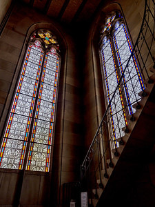 Elisabeth church in Basel, interior view, majestic architecture