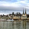 Editorial: 25th February 2017: Luzern, Switzerland. Old center of Luzern street view
