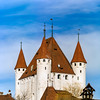 Old castle Thun on Thunersee in Switzerland