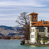 Classic manor on the lake Thun near Oberhofen castle