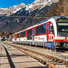 Editorial: 16th February 2017: Brienz, Switzerland. Railway station in little swiss city.