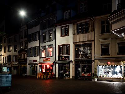 Editorial: 30th June 2019, Basel Switzerland. Street at night