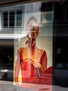 Editorial: 30th June 2019, Basel Switzerland. Advertising in the big window