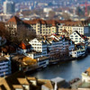 Aerial view to Zurich old center