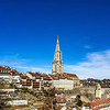 Editorial: 25th February 2017: Bern, Switzerland. Old center of Bern panoramic view