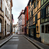 Empty streets of the city of Strasbourg during second quarantine by coronavirus, isolation time