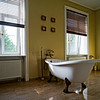 Renovated old-styled bathroom with beautiful retro bath