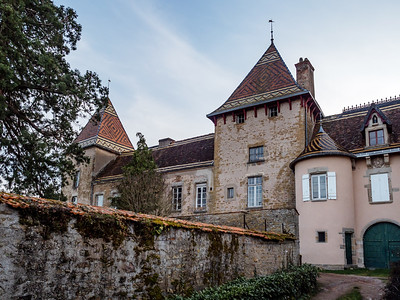 Old streets and medieval castles of a small Burgundy town