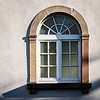 New renovated pvc windows in old historical house, Strasbourg
