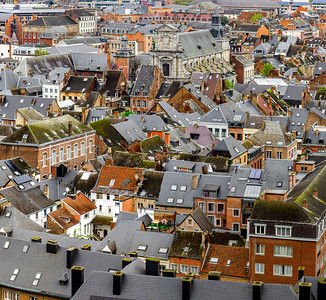 Roofs of Namur beautiful high resolution panoramic view