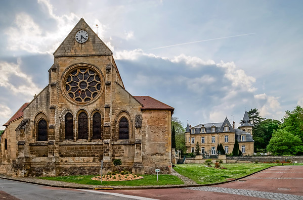 Old medieval church in french countryside