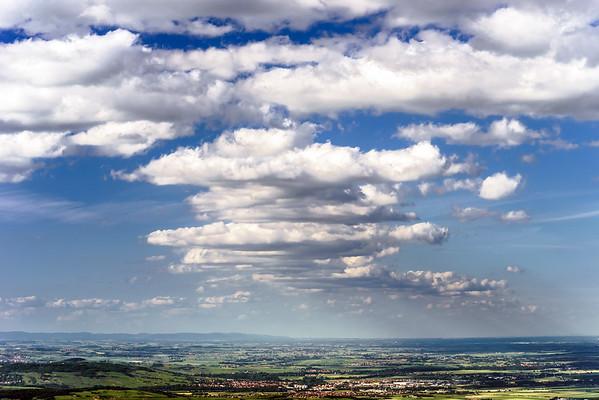 Big cumulus clouds over the land