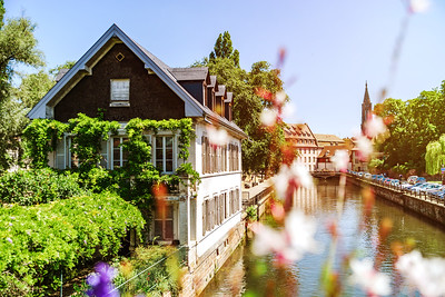 Classic historical architecture of Strasbourg city, Alsace