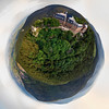 Spherical panoramic view like a planet of Abbey Mont Saint Odile, Alsace, France
